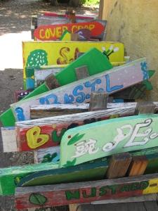 edible schoolyard signs